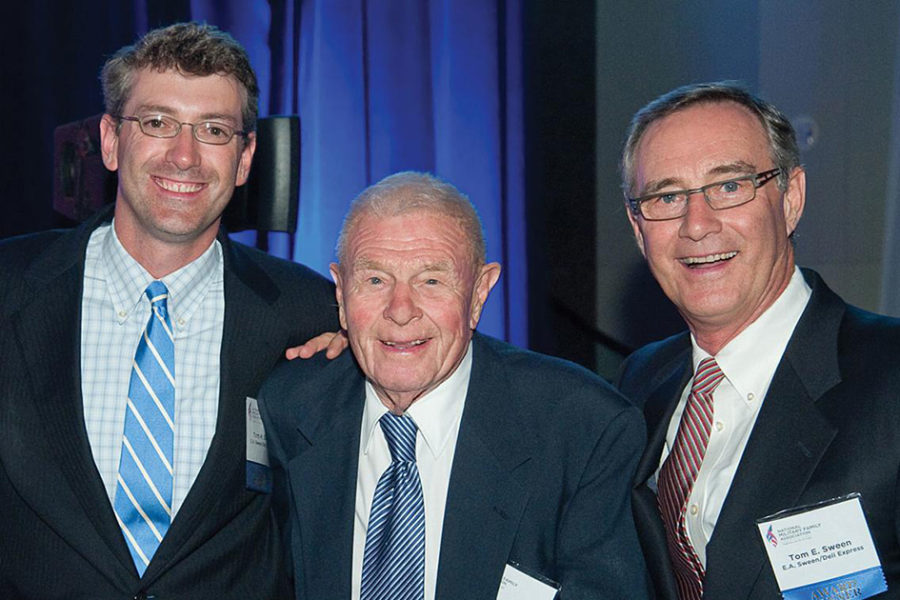 Chairman of the Board, Tom E. Sween with President/Chief Executive Officer, Tom H. Sween and Earl A. Sween