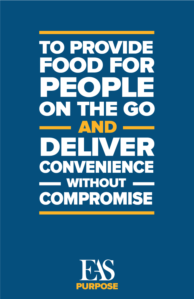E.A. Sween Purpose: To provide food for people on the go and deliver convenience without compromise