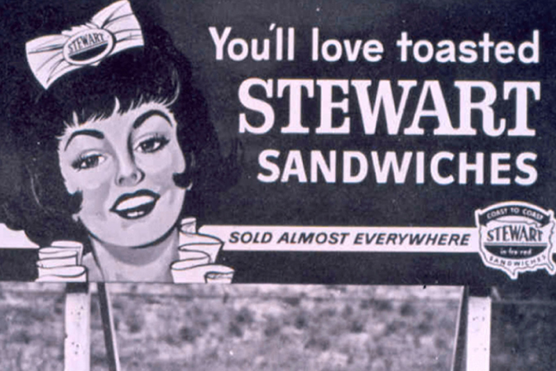 You'll love toasted Stewart Sandwiches - Sold almost everywhere