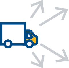 Truck product distribution icon