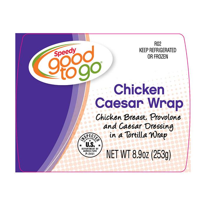 Speedy good to go Chicken Caesar Wrap label