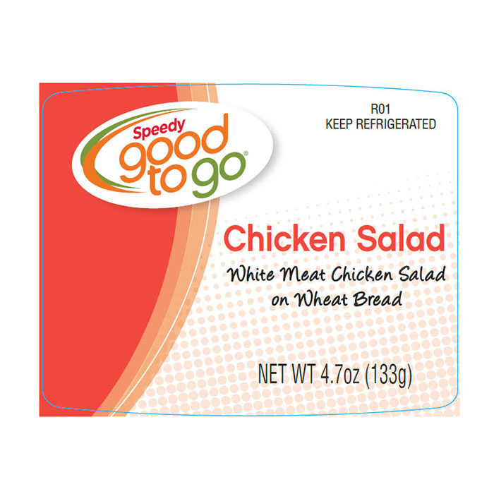 Speedy good to go Chicken Salad label