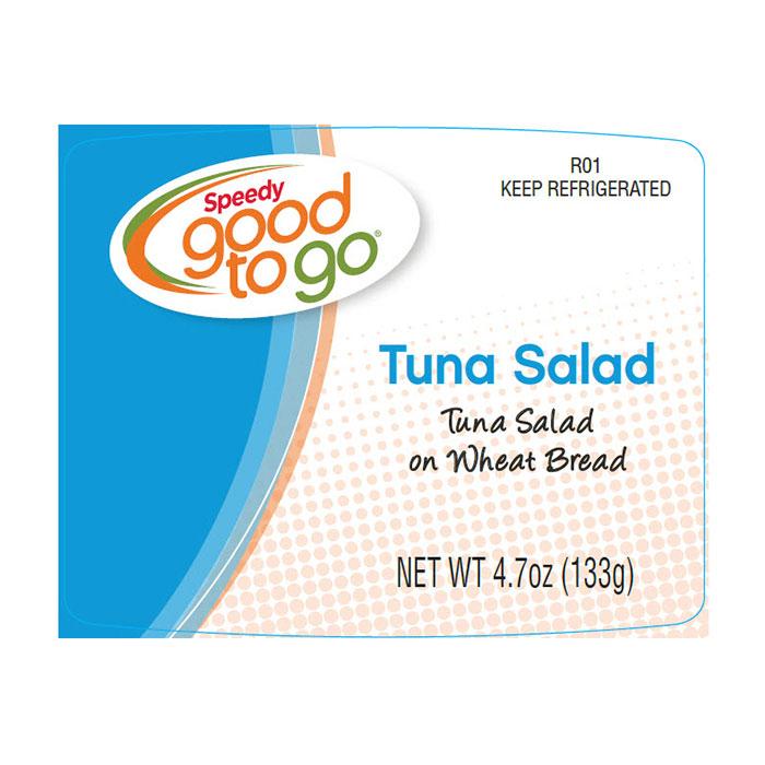 Speedy good to go Tuna Salad label