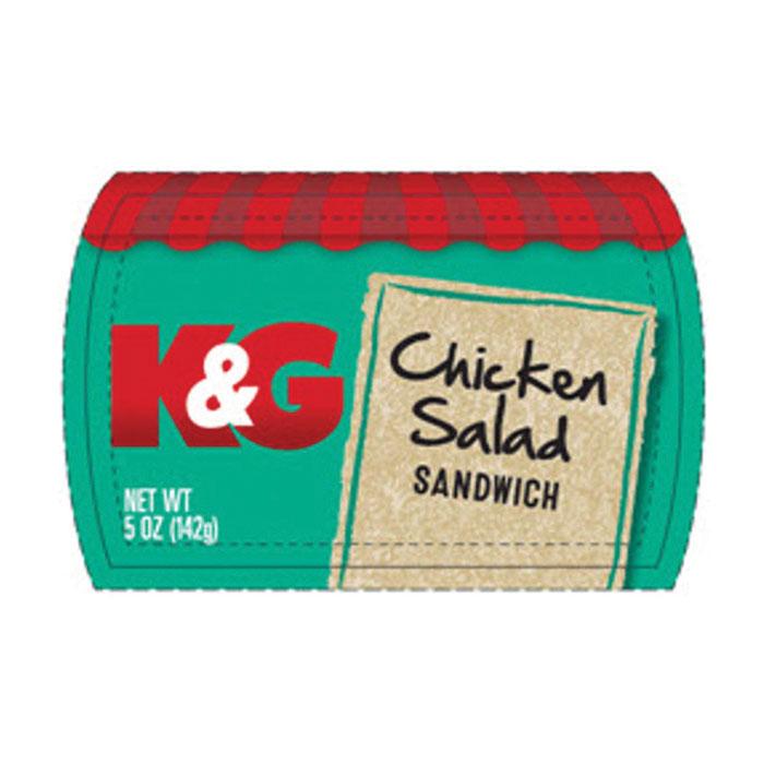 Kum & Go Chicken Salad Sandwich label