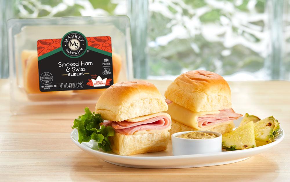 Market Sandwich Kings Hawaiian Smoked Ham and Swiss Sliders