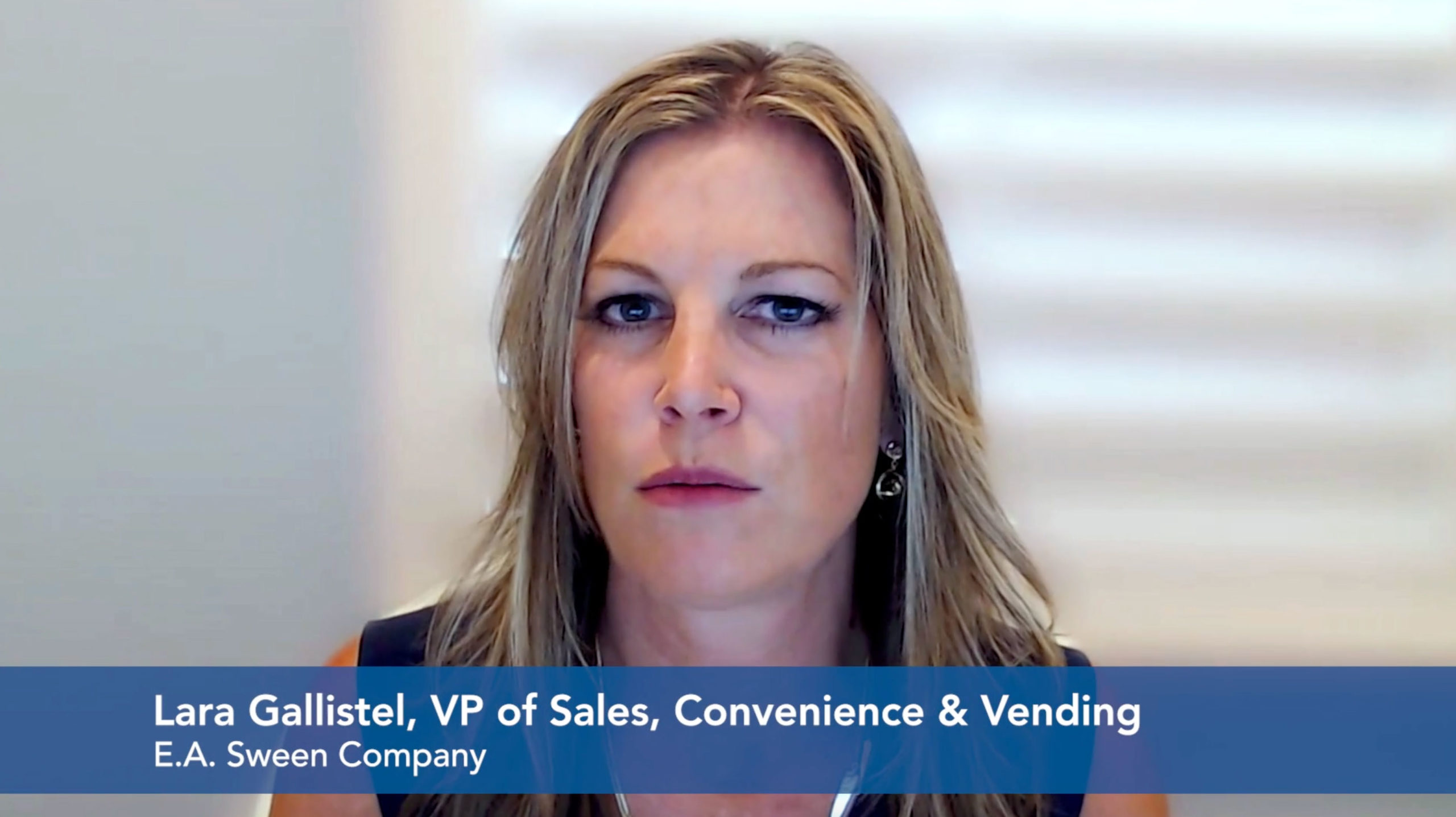 Lara Gallistel , VP of Sales, Convenience and Vending E.A. Sween Company Employee Interview