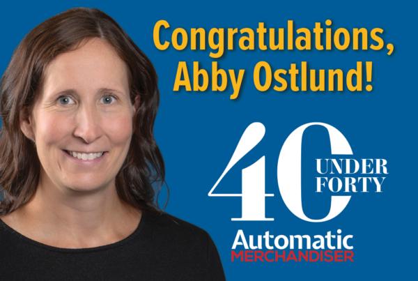 Abby Ostlund received 40 under 40 Automatic Merchandiser Award